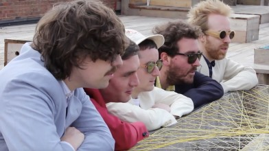 Hot Chip throw back to the 80's in the clip for their Bruce Springsteen and LCD Soundsystem cover