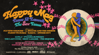 Announcing the third round of artists playing Happy Mag's Issue 12 Launch!
