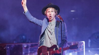 Watch Beck spin through a medley of Prince's greatest hits