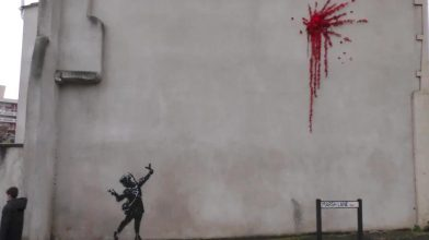 New Banksy Valentines Day artwork defaced after just two days