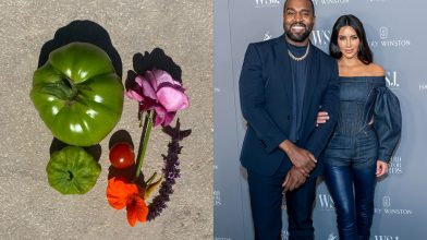 Kanye West claims wife Kim is a billionaire, tweets her pic of vegetables