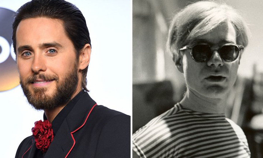 andy warhol, jared leto