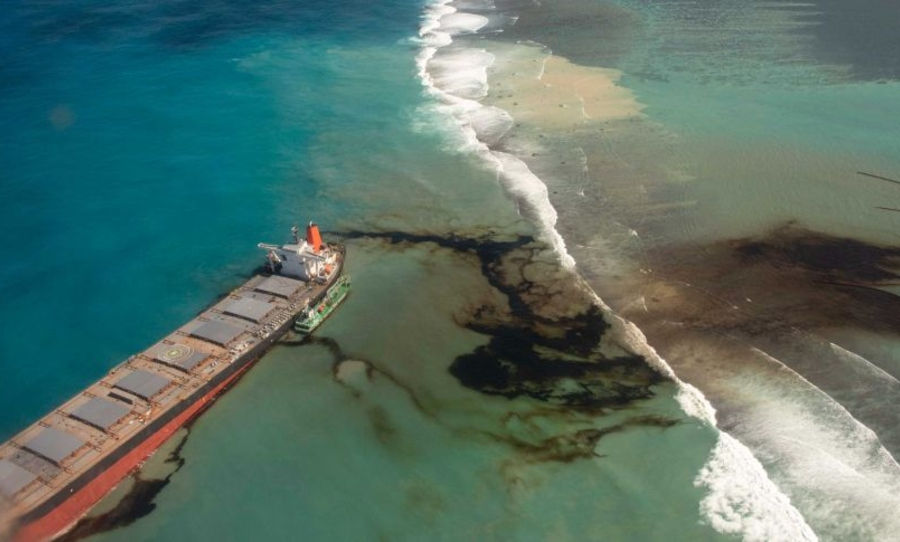 mauritius, oil spill, disaster